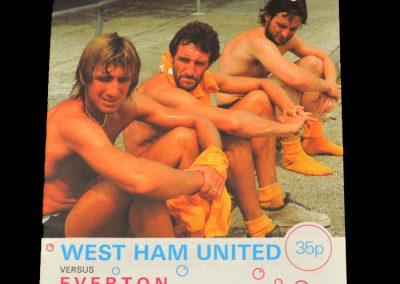 Everton v West Ham 10.10.1981