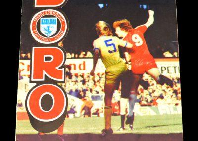 Everton v Middlesbrough 24.10.1981