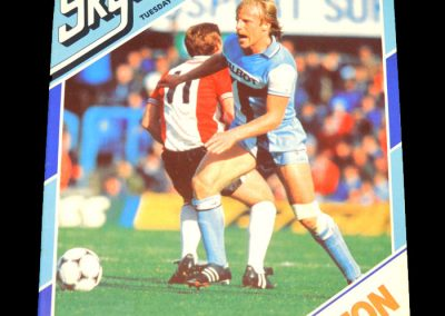 Everton v Coventry 27.10.1981 - League Cup 2nd Round 2nd Leg