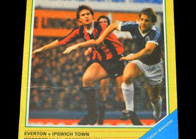 Everton v Ipswich 15.12.1981 - League Cup 4th Round