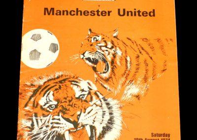 Man Utd v Hull City 10.08.1974 - Friendly
