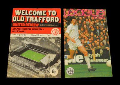 Man Utd v Millwall 24.08.1974 - Best still on the payroll?