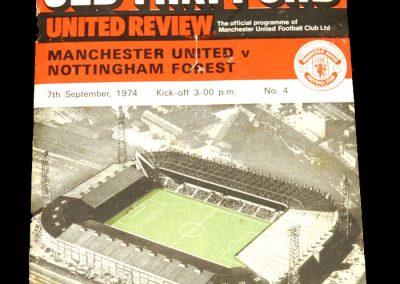 Man Utd v Notts Forest 07.09.1974