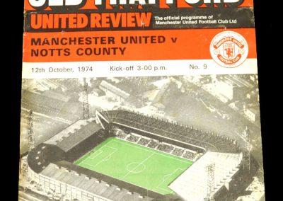 Man Utd v Notts County 12.10.1974