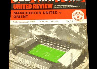 Man Utd v Leyton Orient 14.12.1974