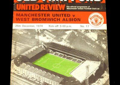 Man Utd v West Brom 26.12.1974