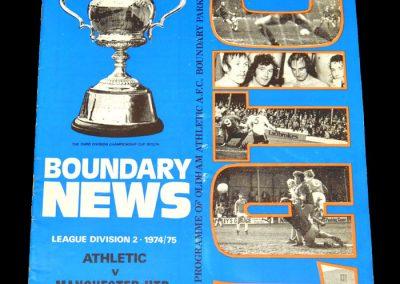 Man Utd v Oldham 28.12.1974
