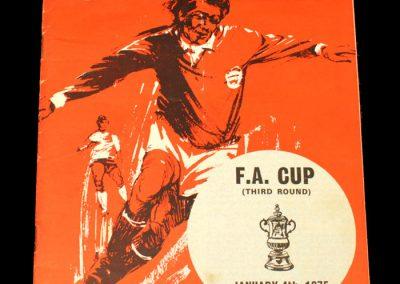 Man Utd v Walsall 04.01.1975 - FA Cup 3rd Round