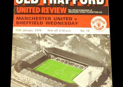 Man Utd v Sheff Wed 11.01.1975