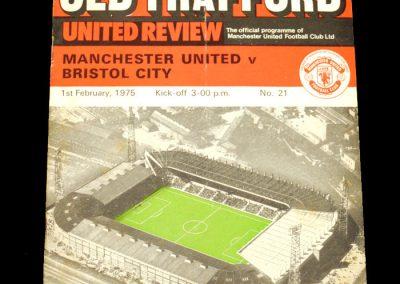 Man Utd v Bristol City 01.02.1975