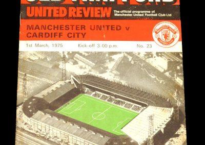Man Utd v Cardiff 01.03.1975
