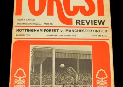 Man Utd v Notts Forest 22.03.1975