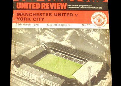 Man Utd v York 29.03.1975