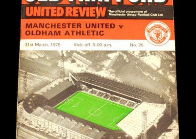 Man Utd v Oldham 31.03.1975