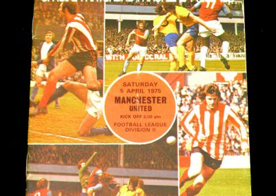 Man Utd v Southampton 05.04.1975