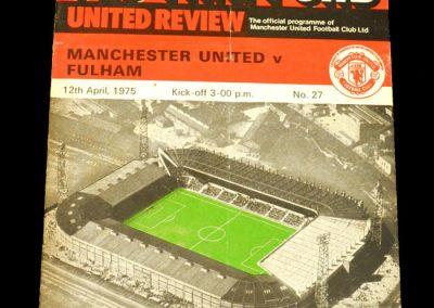 Man Utd v Fulham 12.04.1975