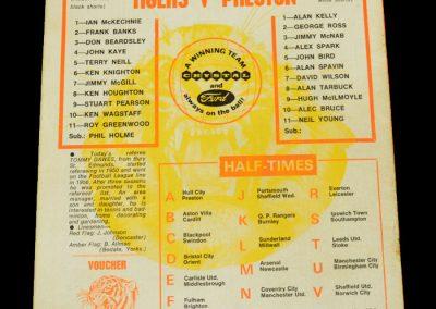 Hull v Preston 27.01.1973