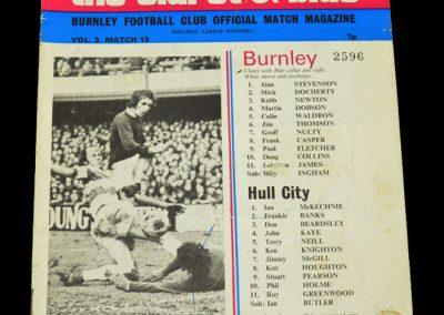Hull v Burnley 10.02.1973