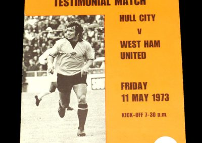 Hull v West Ham 11.05.1973 - Billy Wilkinson Testimonial