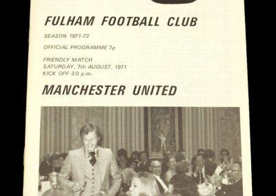 Man Utd v Fulham 07.08.1971 - Friendly