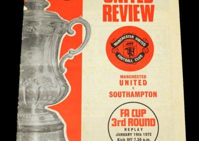 Man Utd v Southampton 19.01.1972 - FA Cup 3rd Round Replay