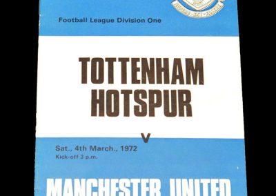 Man Utd v Spurs 04.03.1972