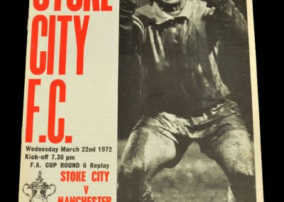 Man Utd v Stoke 22.03.1972 - FA Cup 6th Round Replay
