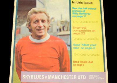 Man Utd v Coventry 01.04.1972