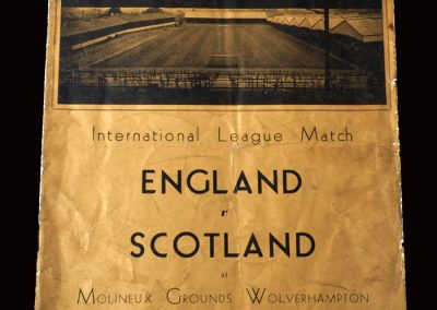 English League v Scottish League 02.11.1938 (at Molineux)