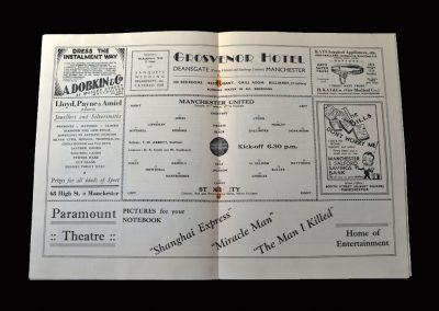 Man Utd Reserves v Stoke Reserves 31.08.1932 (Matthews)
