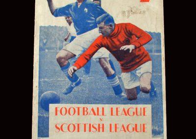 Football League v Scottish League 09.11.1932