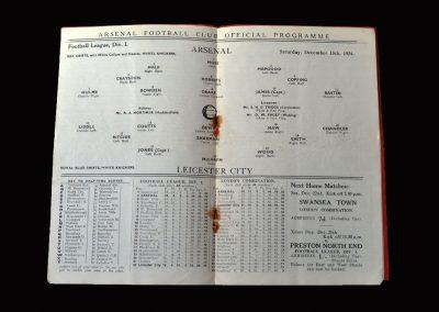 Arsenal v Leicester 15.12.1934