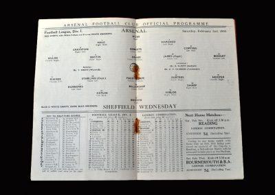 Arsenal v Sheff Wed 02.02.1935