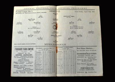 Arsenal v Middlesbrough 19.04.1935