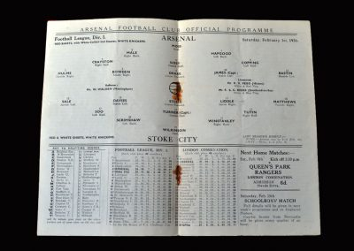 Arsenal v Stoke 01.02.1936