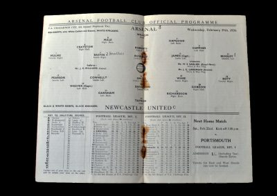 Arsenal v Newcastle 19.02.1936 - FA Cup 5th Round Replay