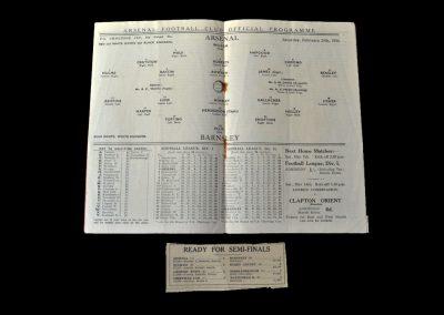 Arsenal v Barnsley 29.02.1936 - FA Cup 6th Round
