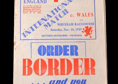 Wales v England 18.11.1939 2-3