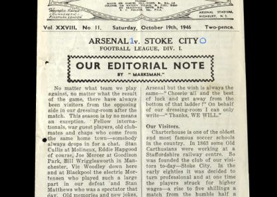 Stoke v Arsenal 19.10.1946