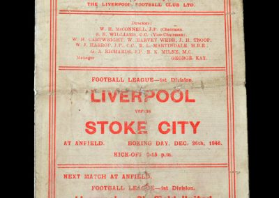 Stoke v Liverpool 26.12.1946