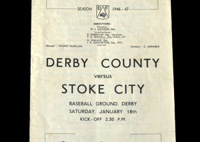 Stoke v Derby 18.01.1947