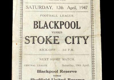 Stoke v Blackpool 12.04.1947