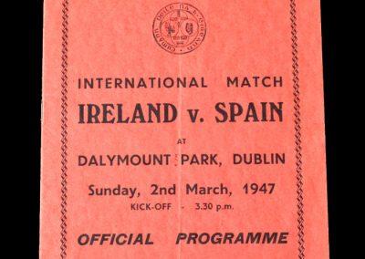 Ireland v Spain 02.03.1947