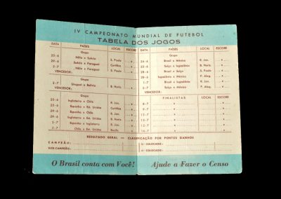 World Cup Fixture Card