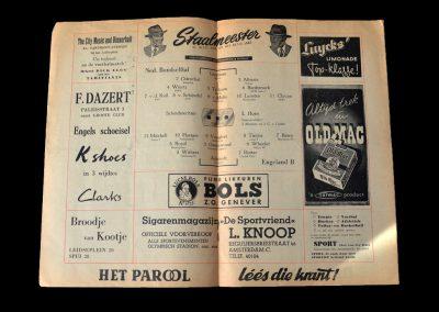 England B v Holland B 26.03.1952