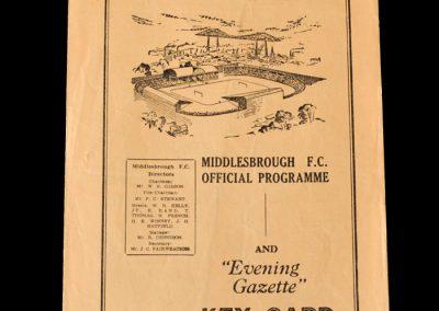 Middlesbrough Reserves v Hartlepool Reserves 02.04.1955