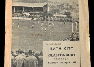 Bath City Reserves v Glastonbury 02.04.1955