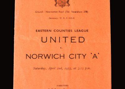 Cambridge Utd v Norwich A 02.04.1955