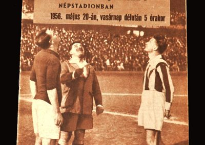 Hungary v Czechoslovakia 20.05.1956 2-4 with no Puskas