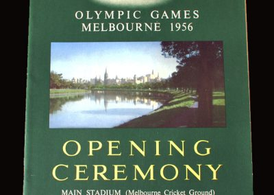 Opening ceremony programme - Olympic games 1956